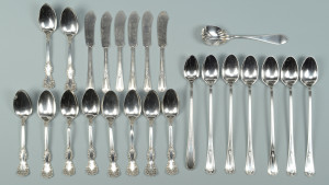 Lot 615: 24 pcs. Sterling Flatware