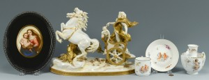 Lot 616: 5 Pieces Continental Porcelain