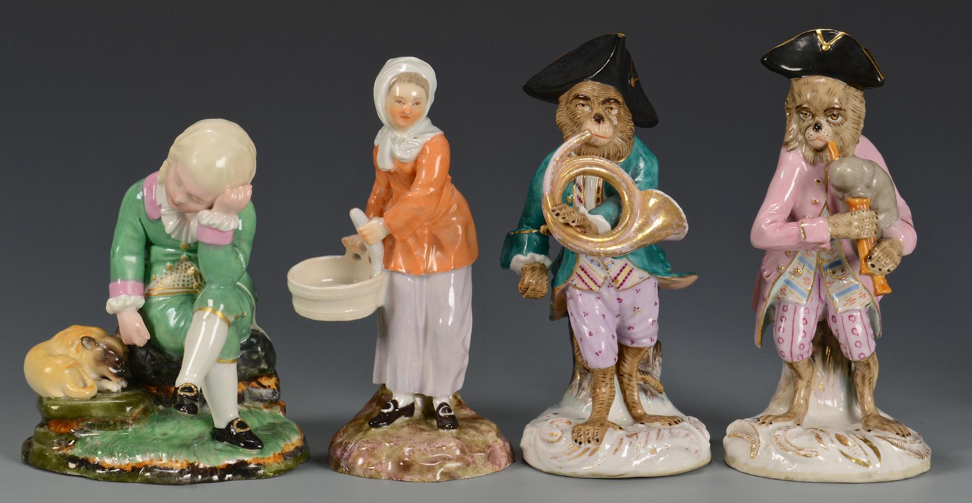 Lot 617: 8 Porcelain Figurines