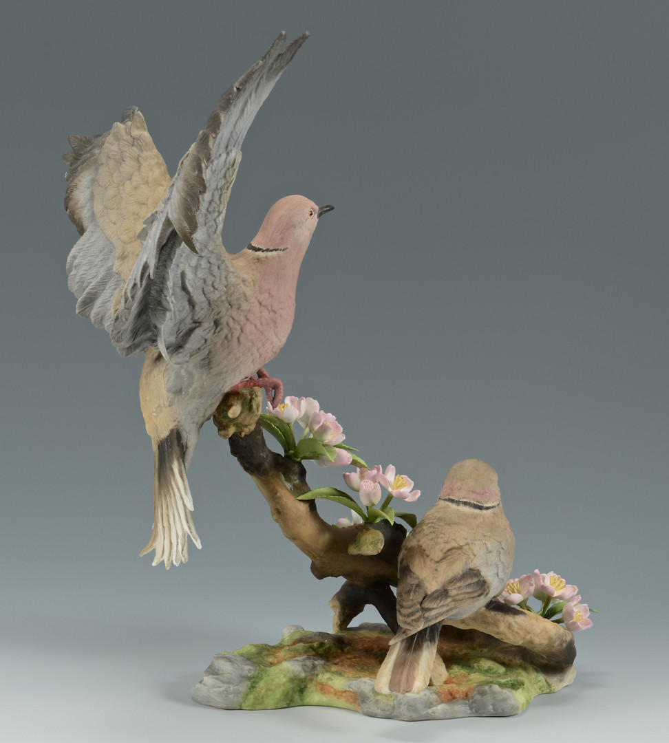 Lot 628: Boehm Collared Doves