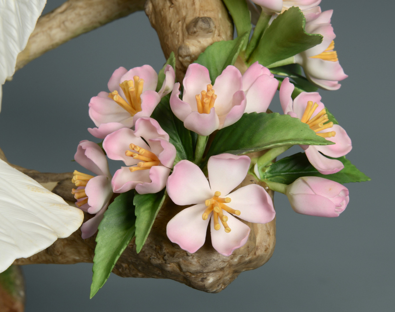 Lot 629: Boehm Doves w/ Apple Blossoms