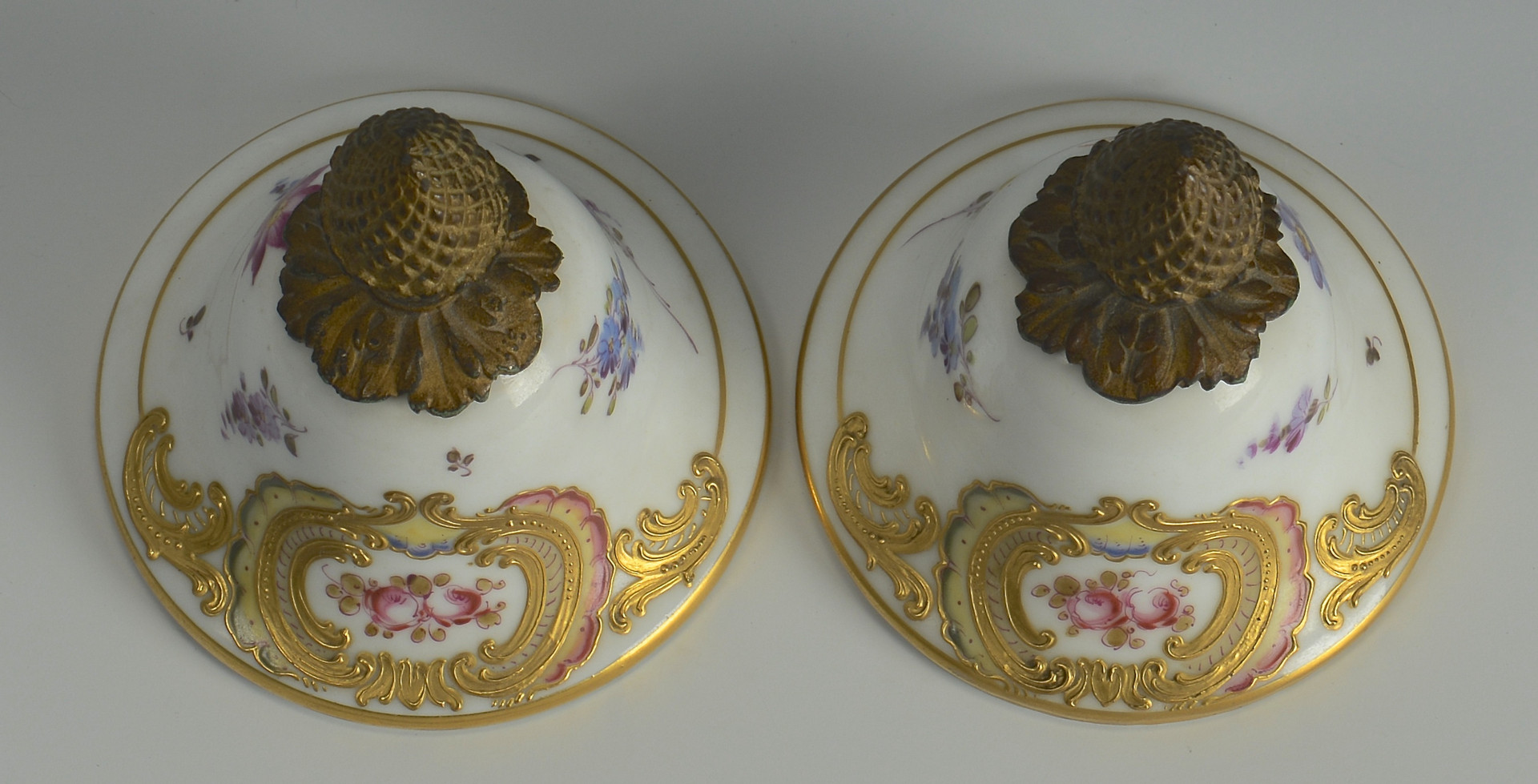 Lot 62: Pair Lg French Porcelain Urns