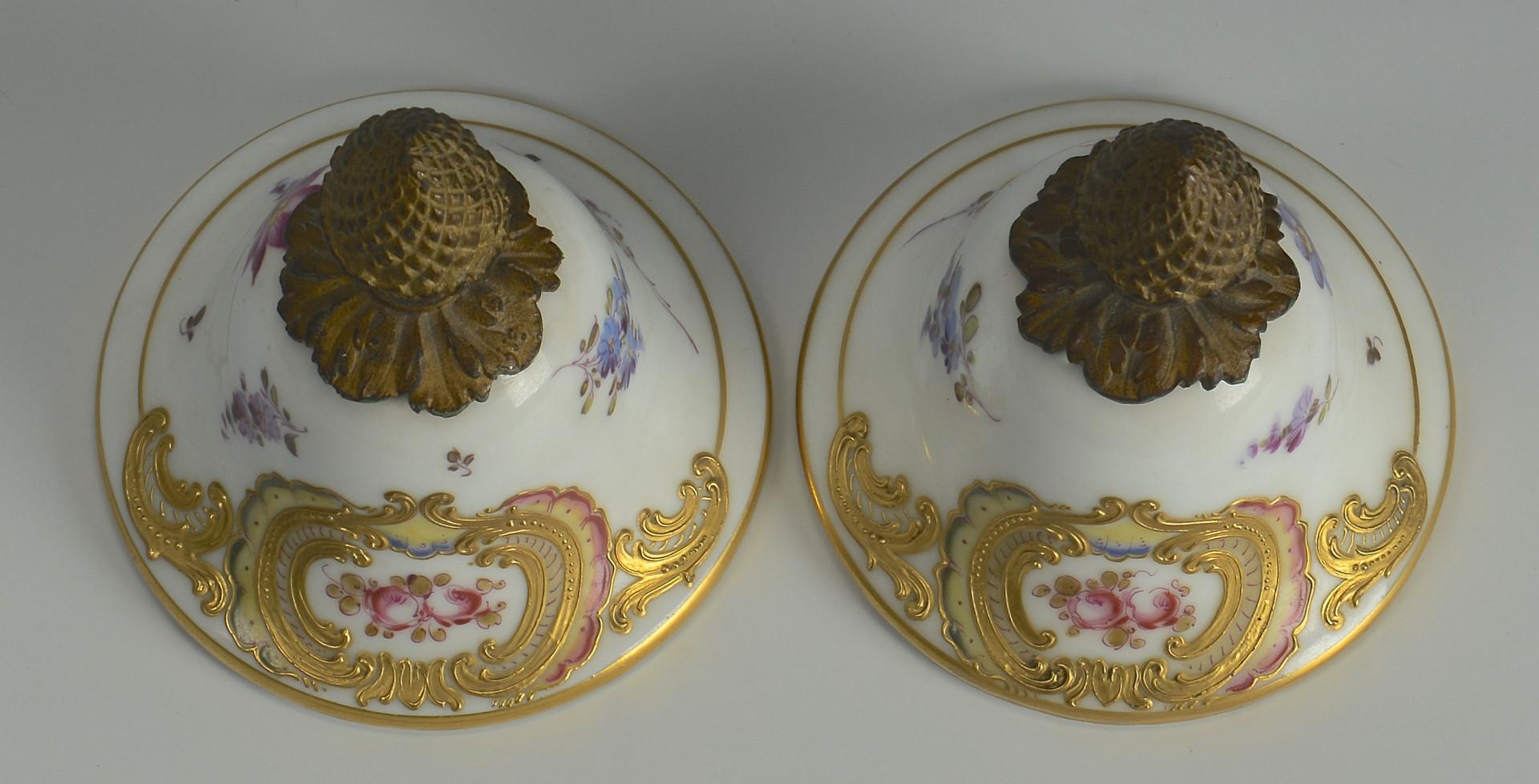Lot 62: Pair Lg French Porcelain Urns