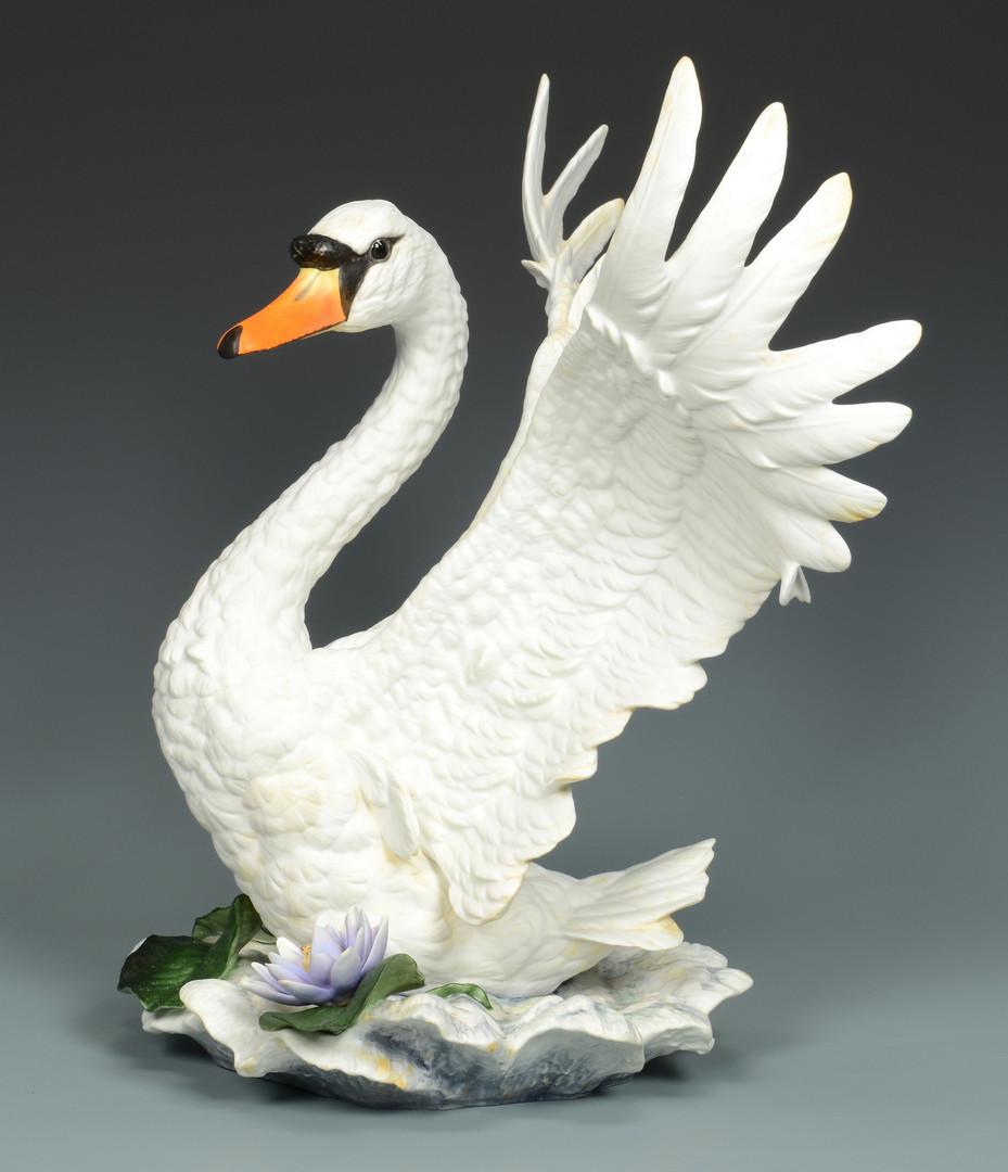 Lot 630: Boehm Centerpiece Swans