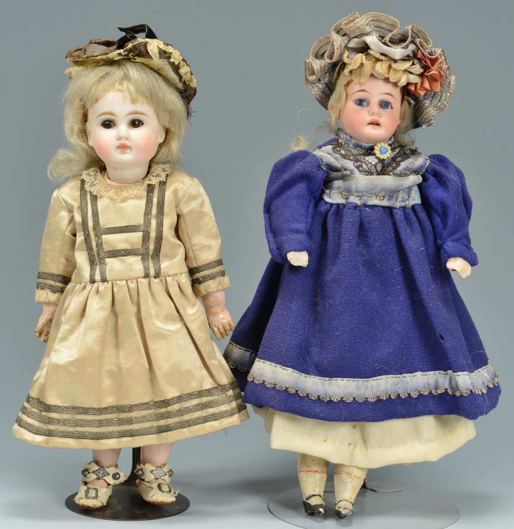 Lot 632: 5 Bisque Dolls, one French