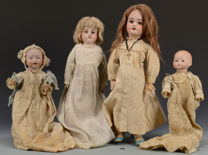Lot 633: 4 German Dolls incl. 2 Baby Dolls