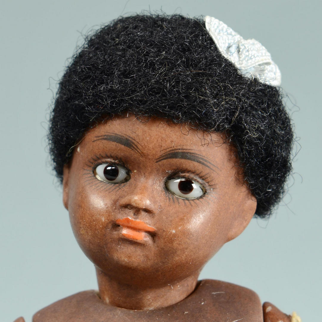 Lot 636: 3 Kestner Black Barefoot Dolls