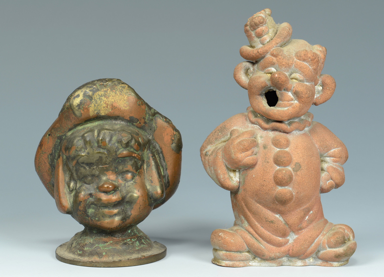 Lot 637: 6 Copper Puppet Molds, People