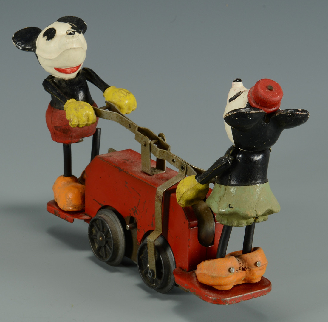 Lot 642: Vintage toys w/ Mickey Mouse