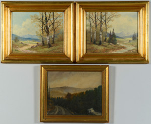 Lot 650: 3 Mountain Landscape Oils