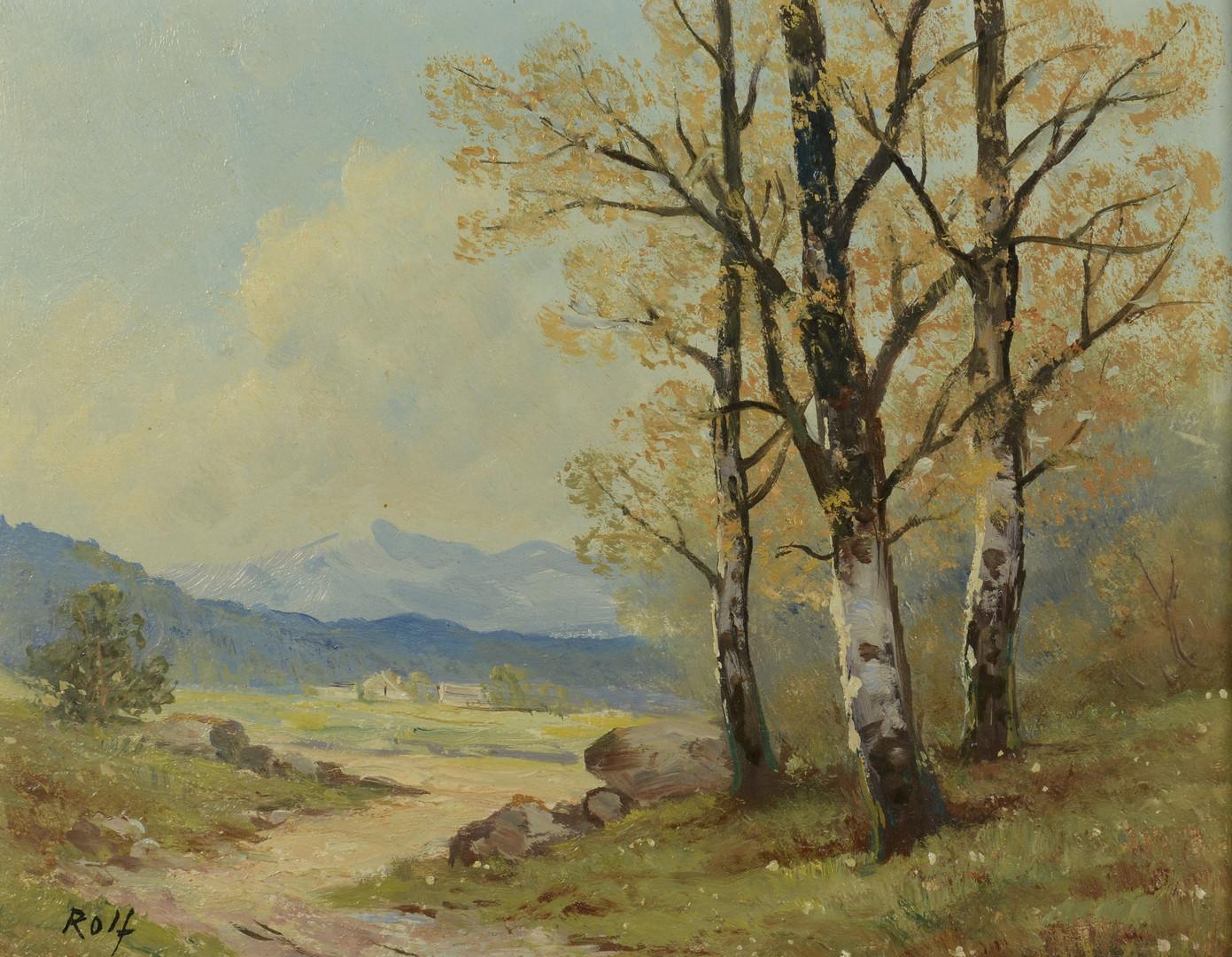 Lot 650: 3 Mountain Landscape Oils