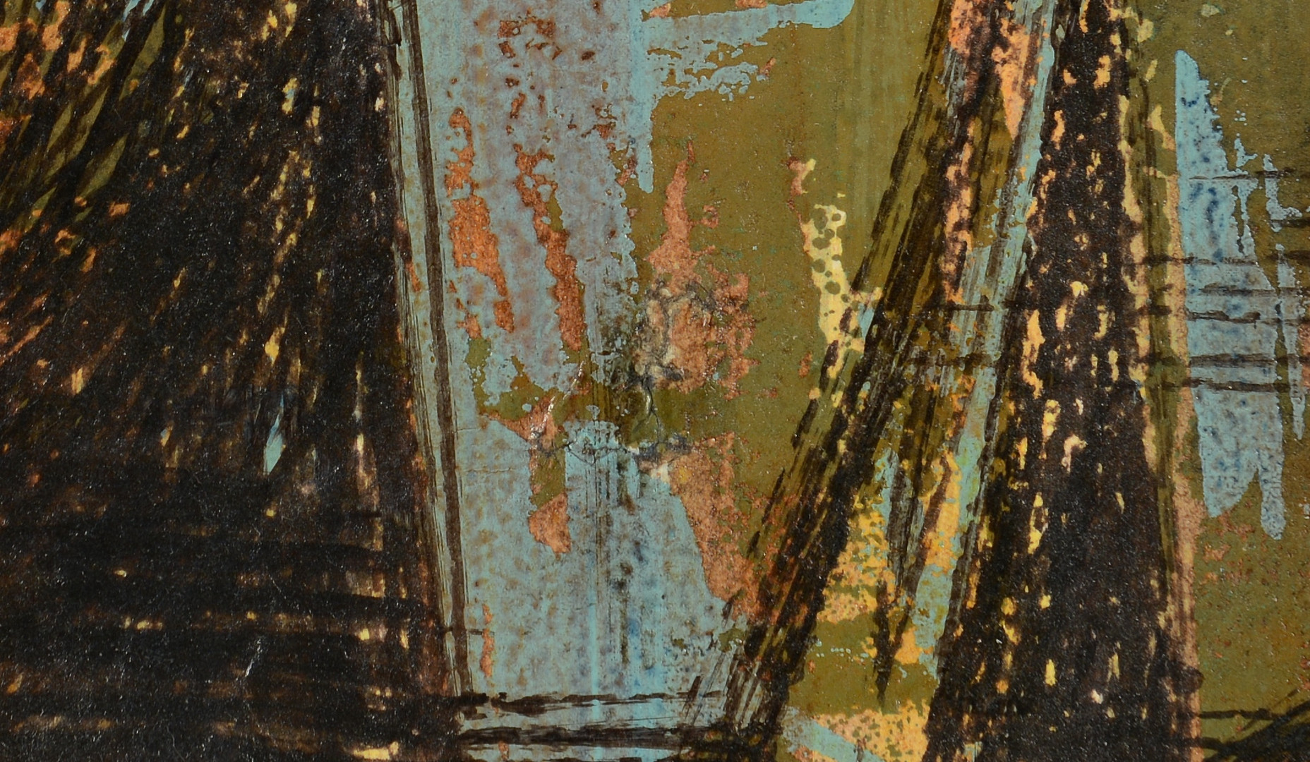 Lot 651: Hubert Shuptrine Abstract Oil