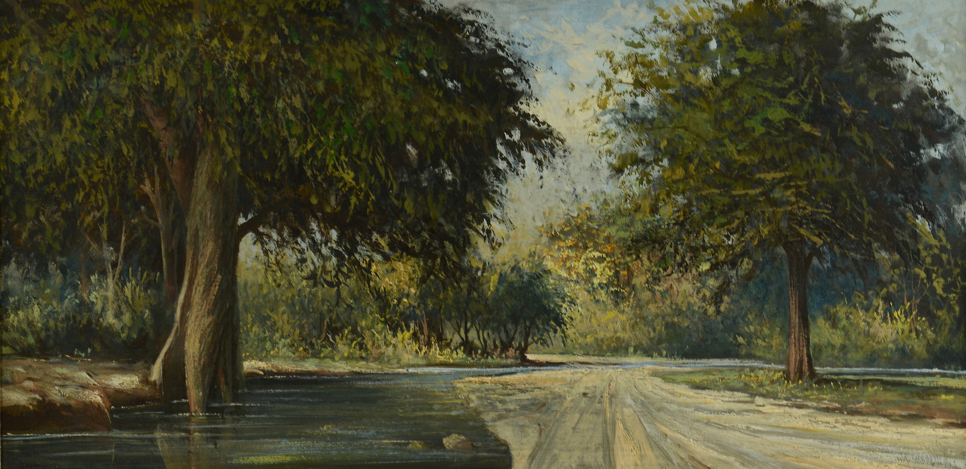 Lot 655: William R. Thrasher Landscape Painting
