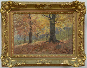 Lot 656: FJ Girardin, oil on canvas landscape