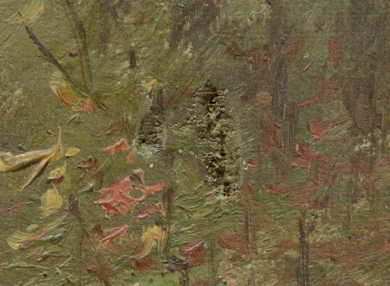 Lot 656: FJ Girardin, oil on canvas landscape
