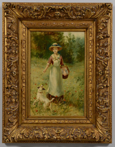 Lot 657: D.W. Haddon o/b, Lady and Dog