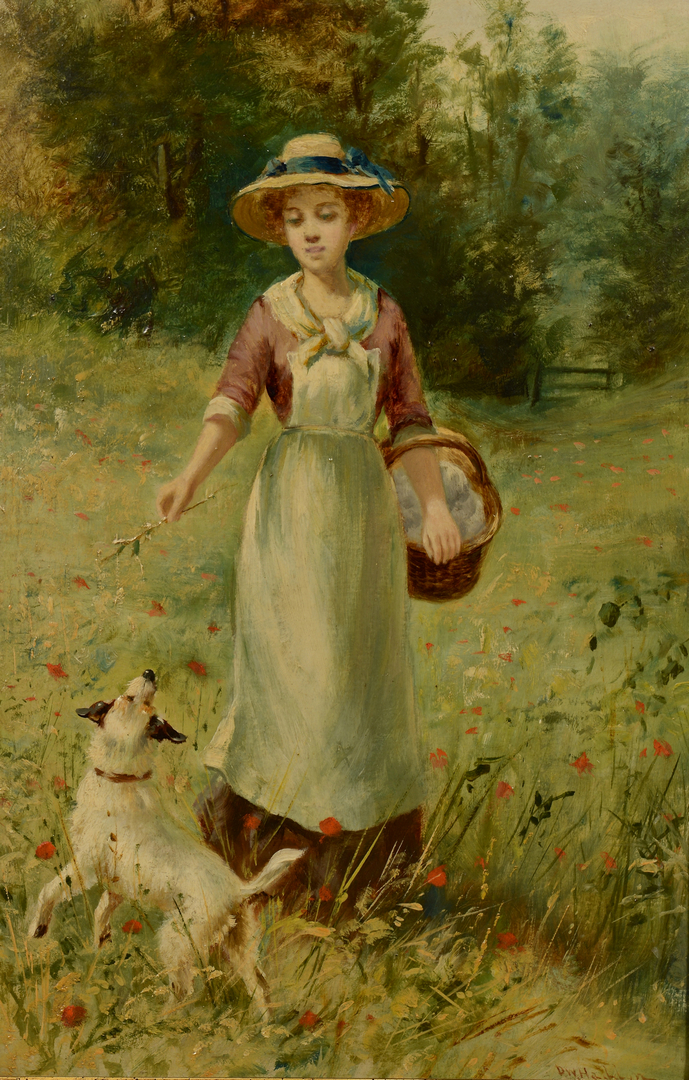 Lot 657: D.W. Haddon o/b, Lady and Dog