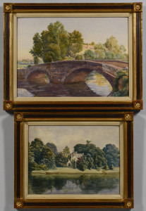 Lot 658: 2 English Country Watercolors