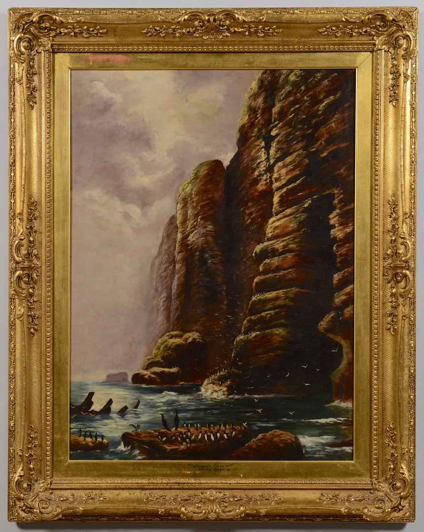 Lot 659: P. Graham o/c, Fingal's Cave