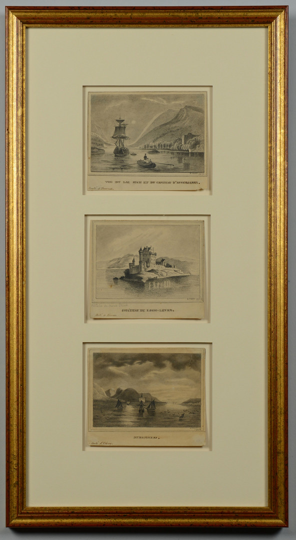 Lot 660: Framed Group of 3 Pencil Drawings, E. Talen