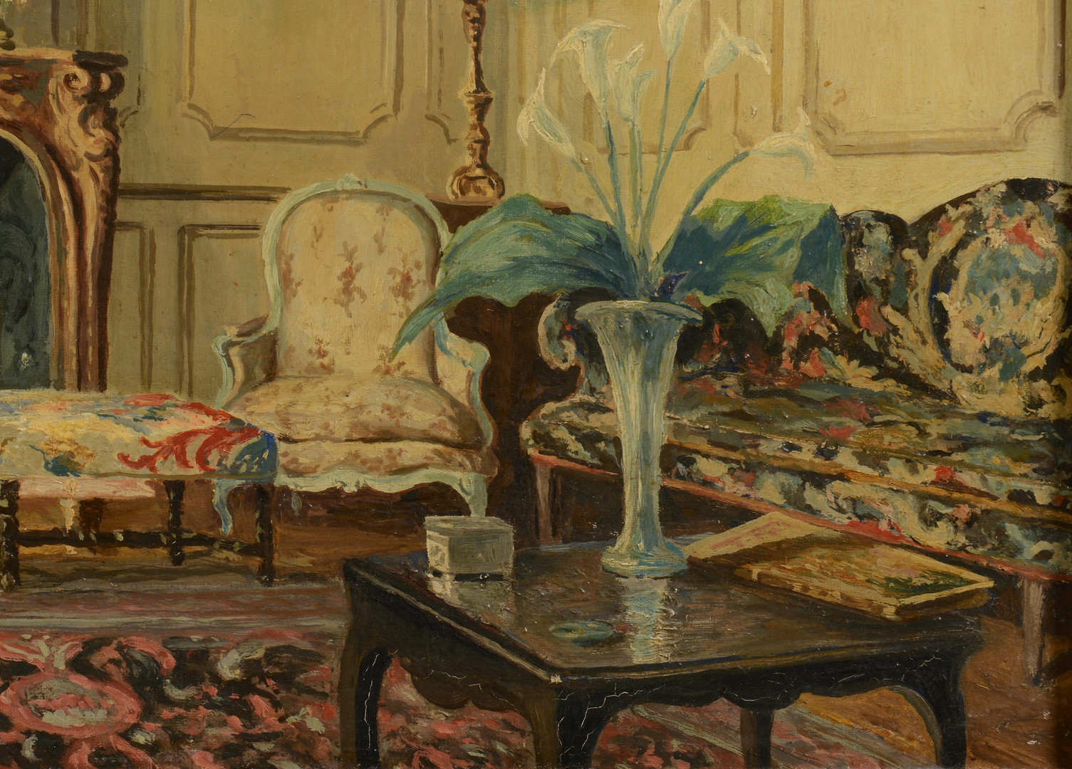 Lot 661: Interior Scene, sgd. Heinrich XXXIII Reuss