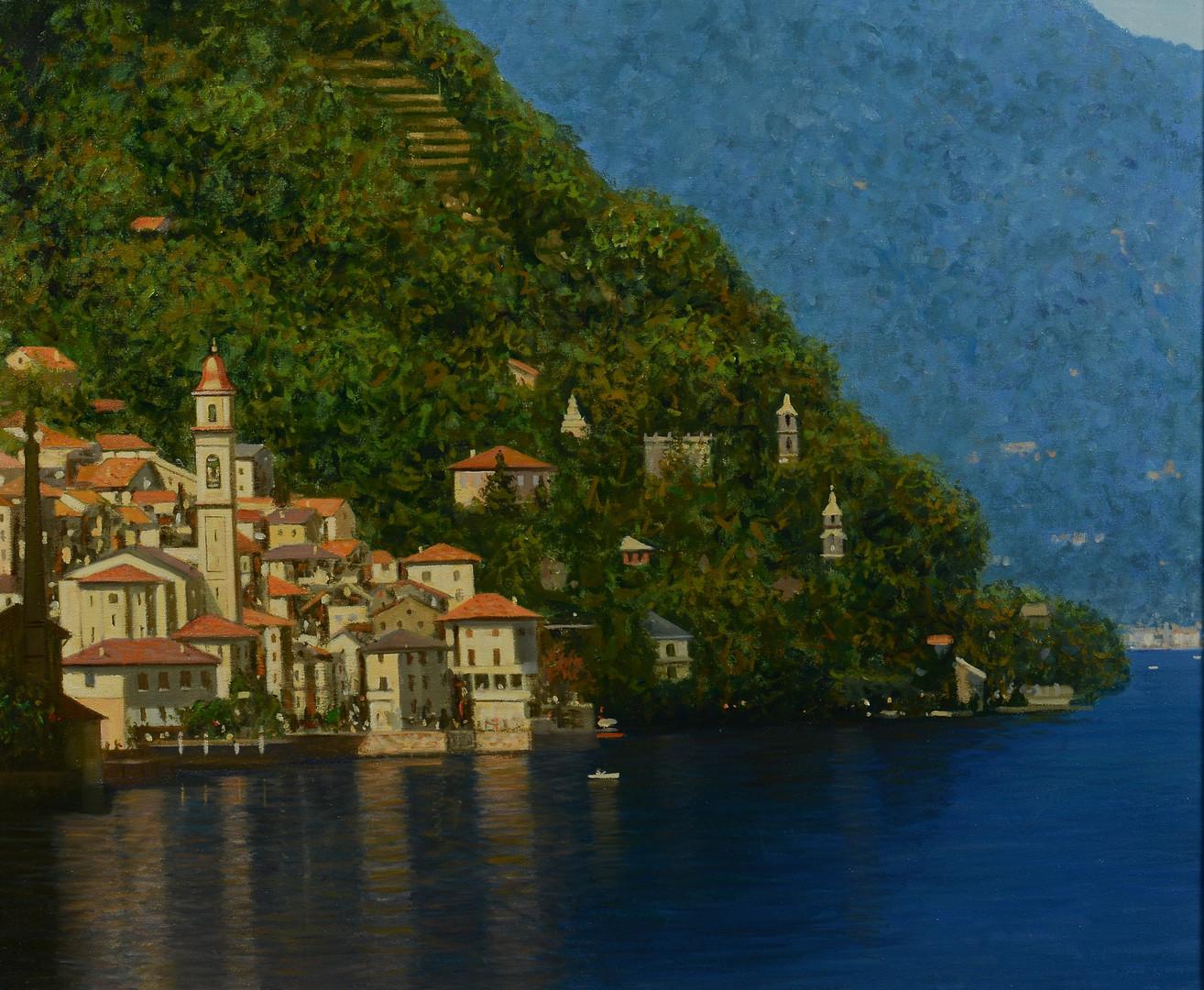 Lot 666: Francois Beaupre o/c, Lake Como