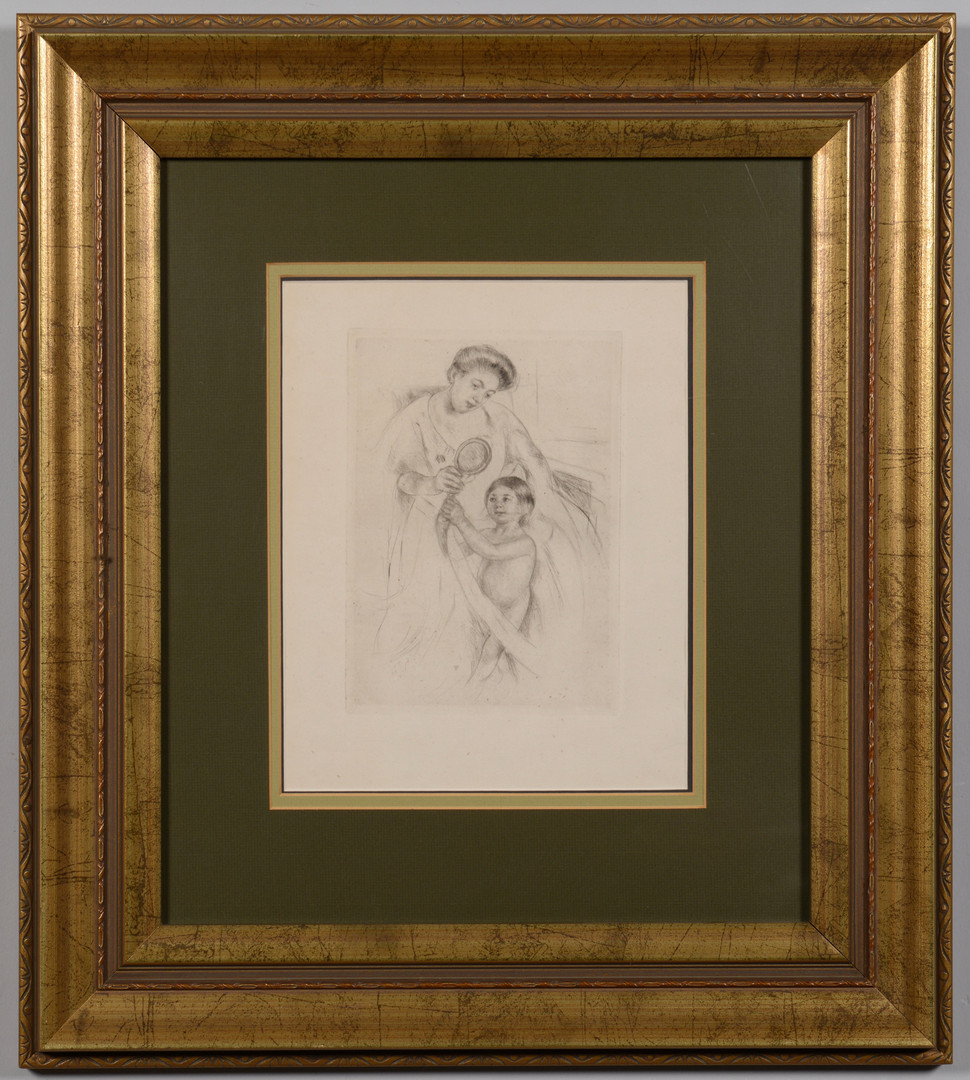 Lot 66: Mary Cassatt Etching: Mother and Child
