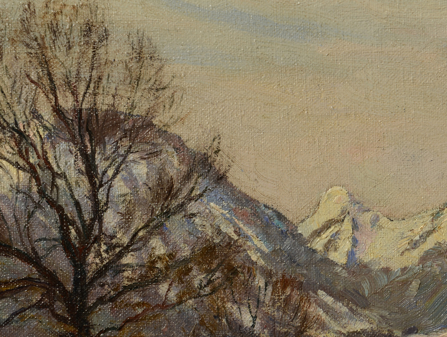 Lot 670: Alexandre Weise o/c, winter landscape