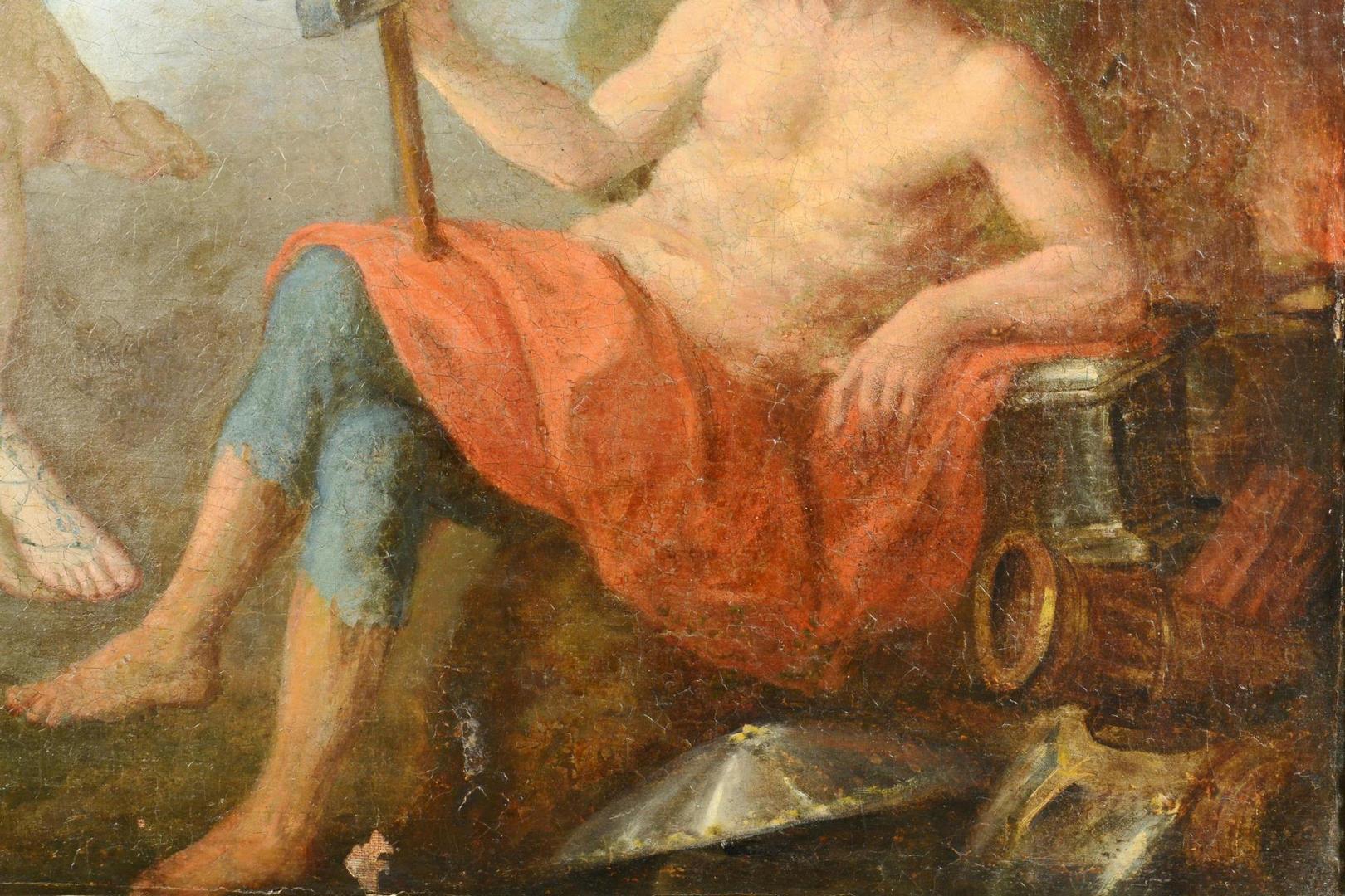 Lot 672: French School 18th c., Venus & Vulcan mythological