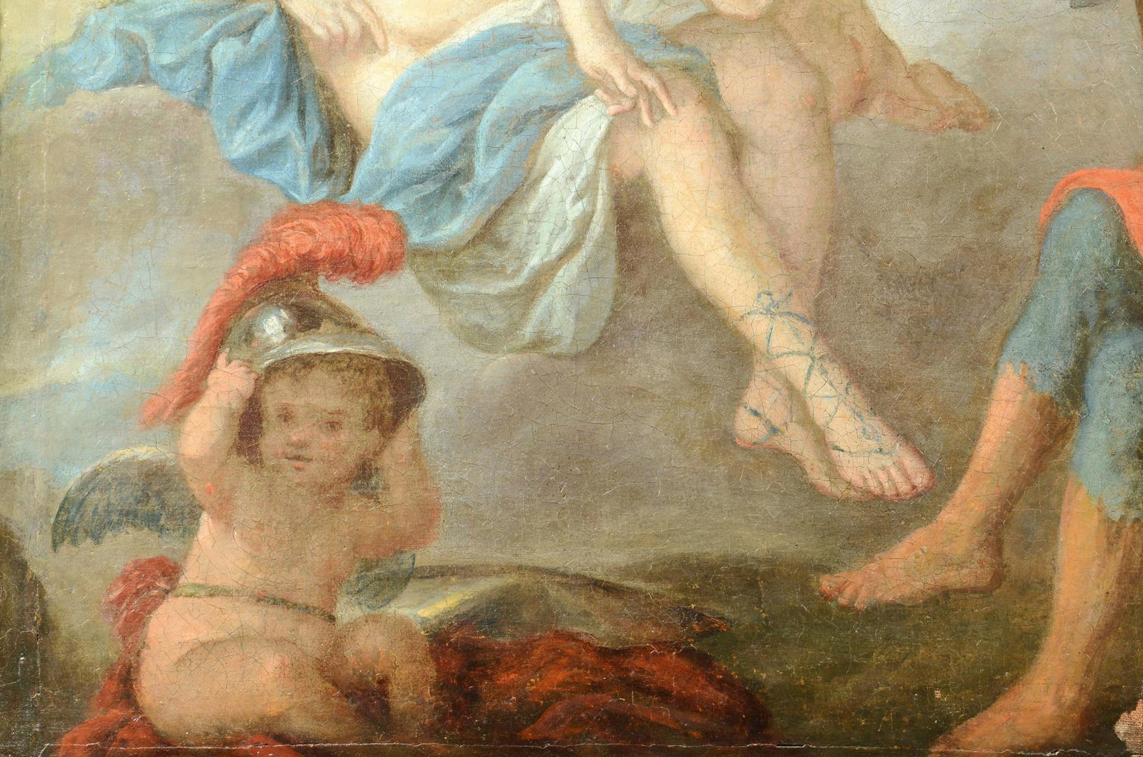 Lot 672: French School 18th c., Venus & Vulcan mythological