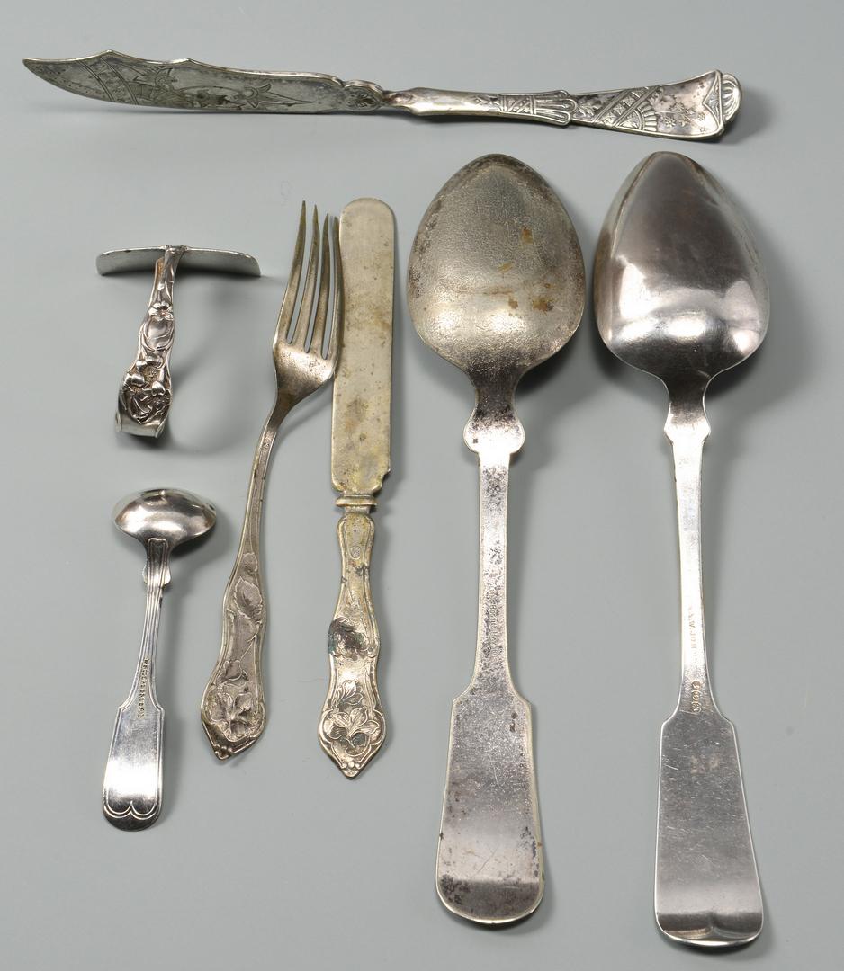 Lot 678: Portrait Miniature & Silver
