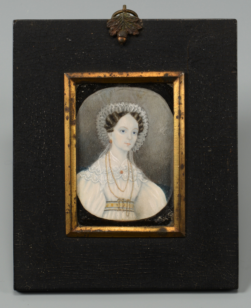 Lot 678: Portrait Miniature & Silver
