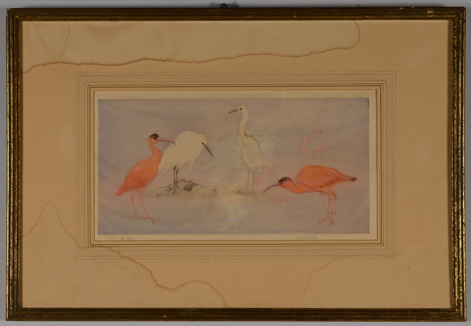 Lot 679: E.J. Detmold aquatint