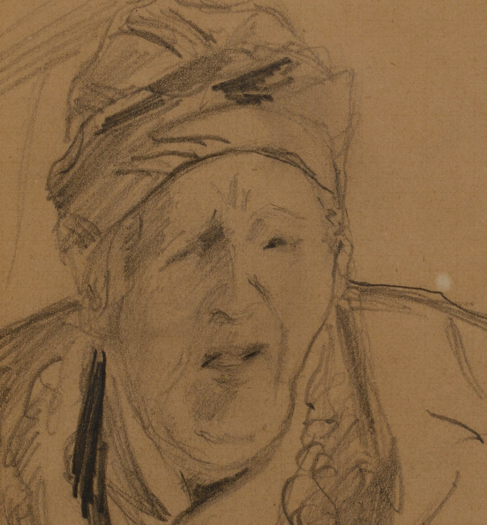 Lot 67: Camille Pissarro Drawing, Portrait of His Mother