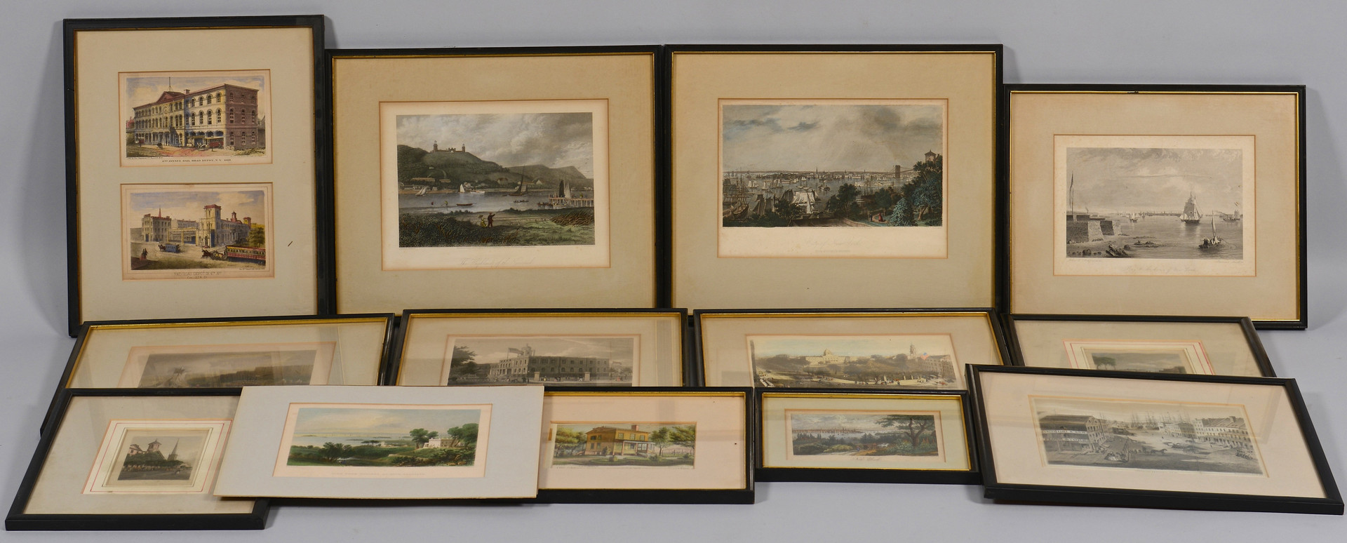 Lot 680: 14 Views of New York, 19th C.