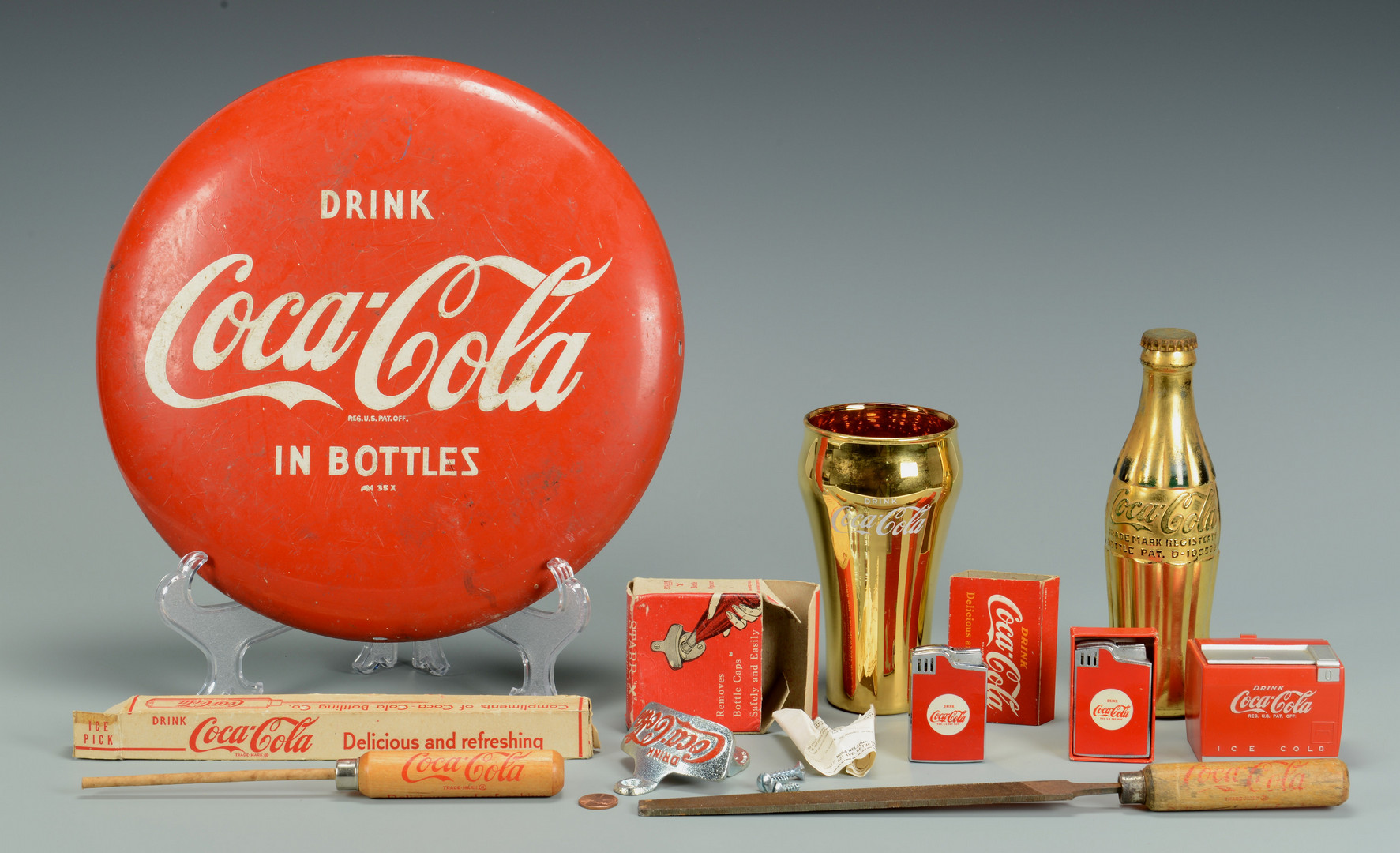 Lot 684: Grouping Coca-Cola Advertising Items, 9 pcs.