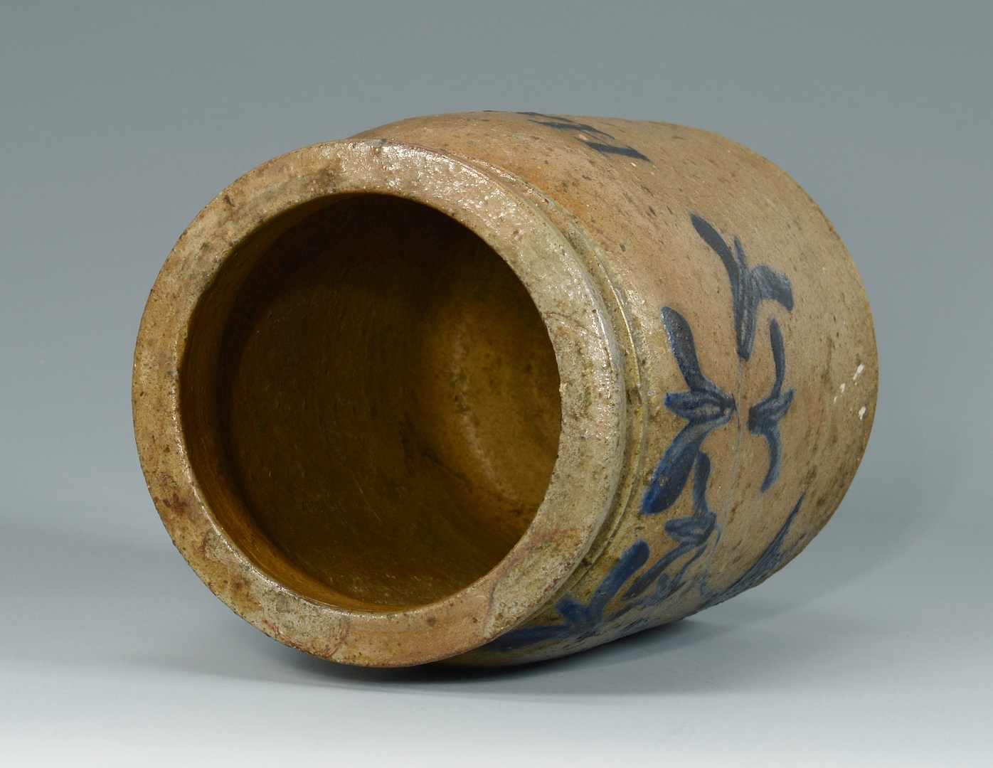 Lot 692: Cobalt Stenciled Jar, Ham Easter