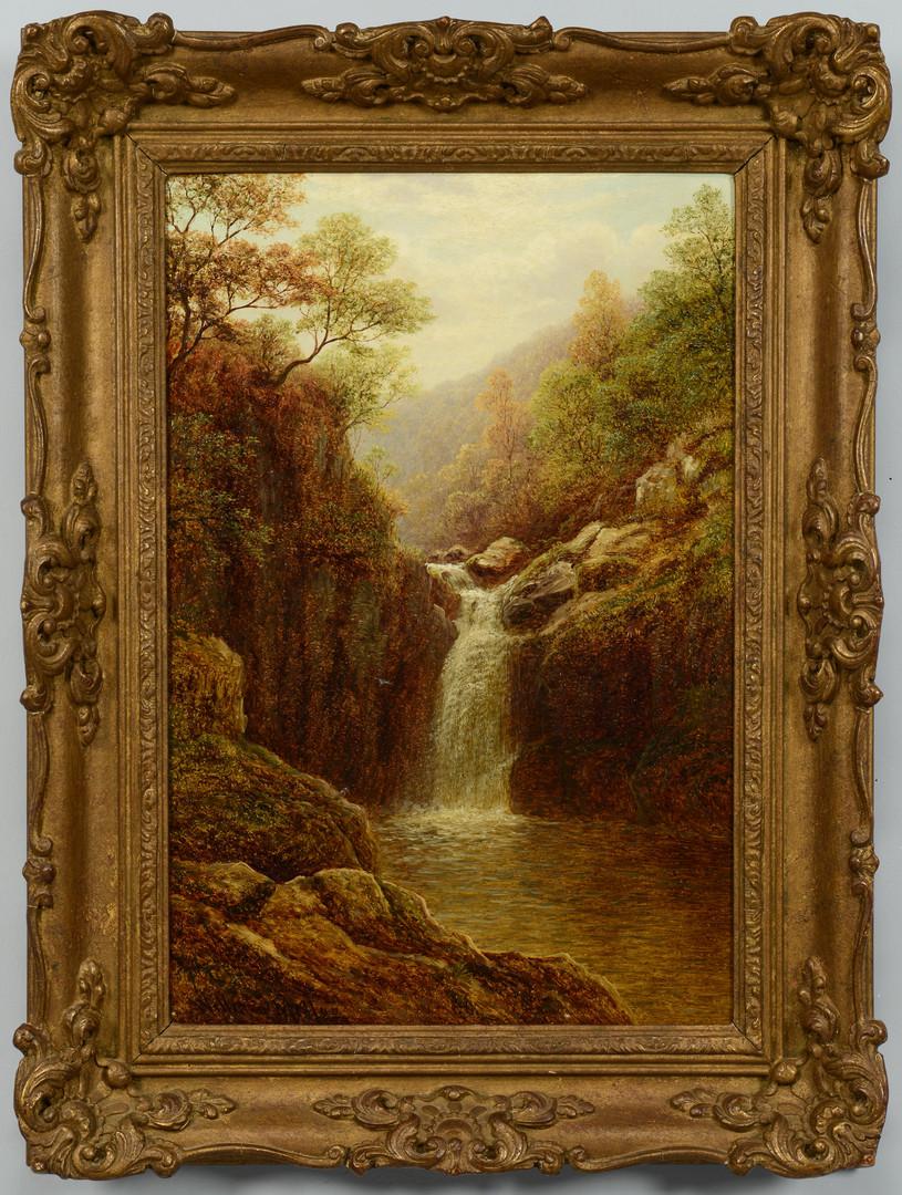 Lot 69: William Mellor landscape, Pecca Falls