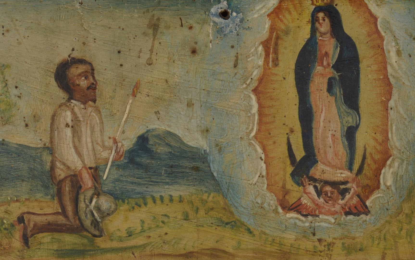 Lot 704: Religious Eglomise and Retablo