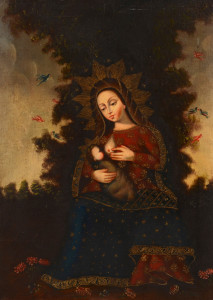 Lot 705: Cuzco School Madonna Lactans