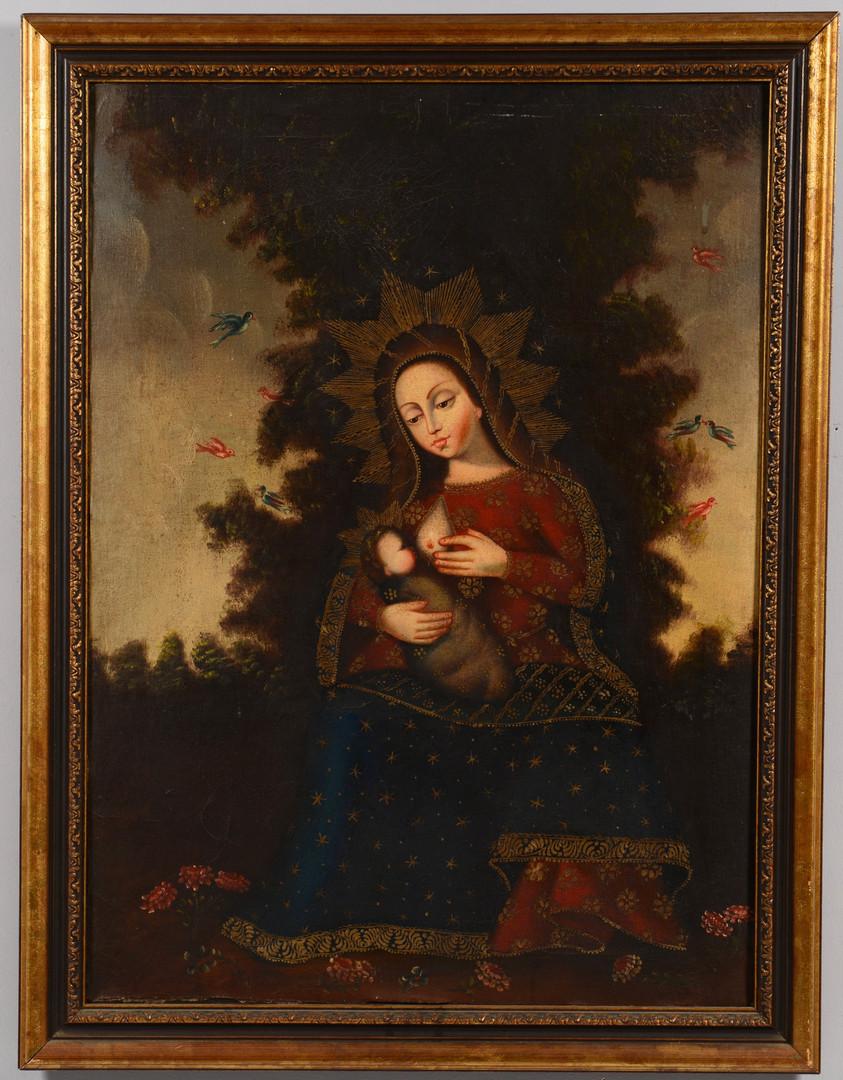 Lot 705: Cuzco School Madonna Lactans