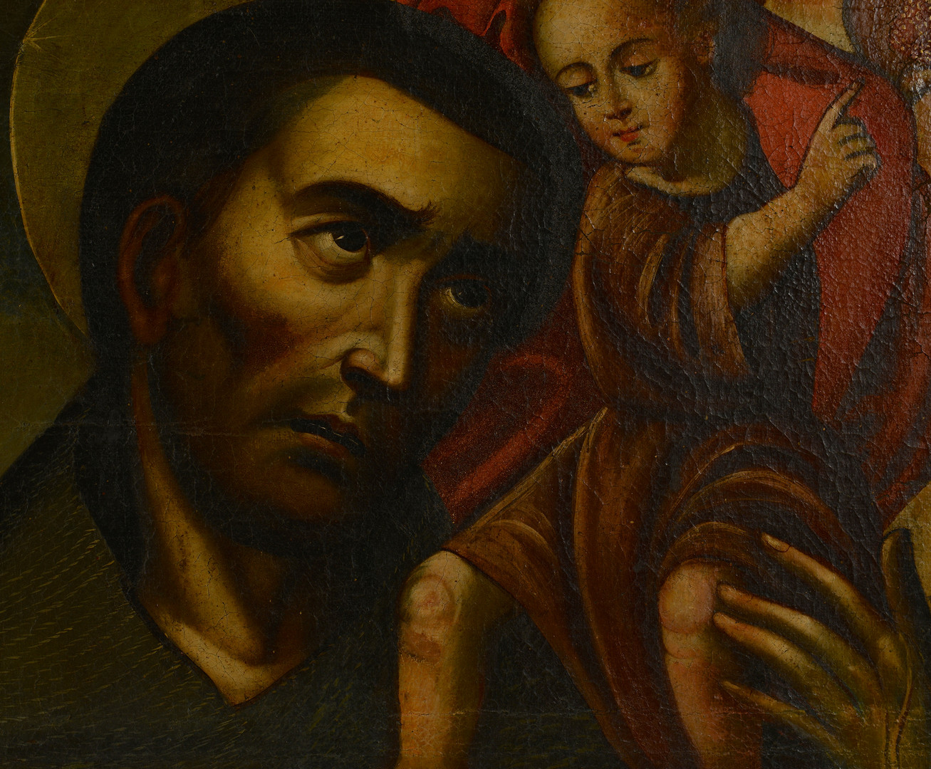 Lot 706: Manner of El Greco, Saint with Child