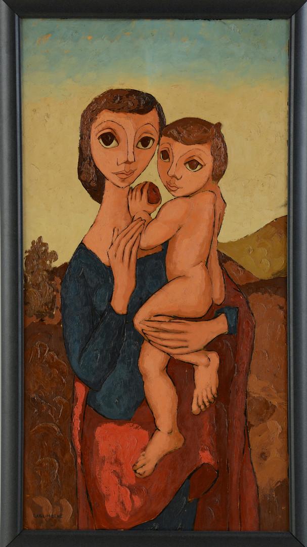 Lot 707: Saglimbene o/b, Madonna and Child