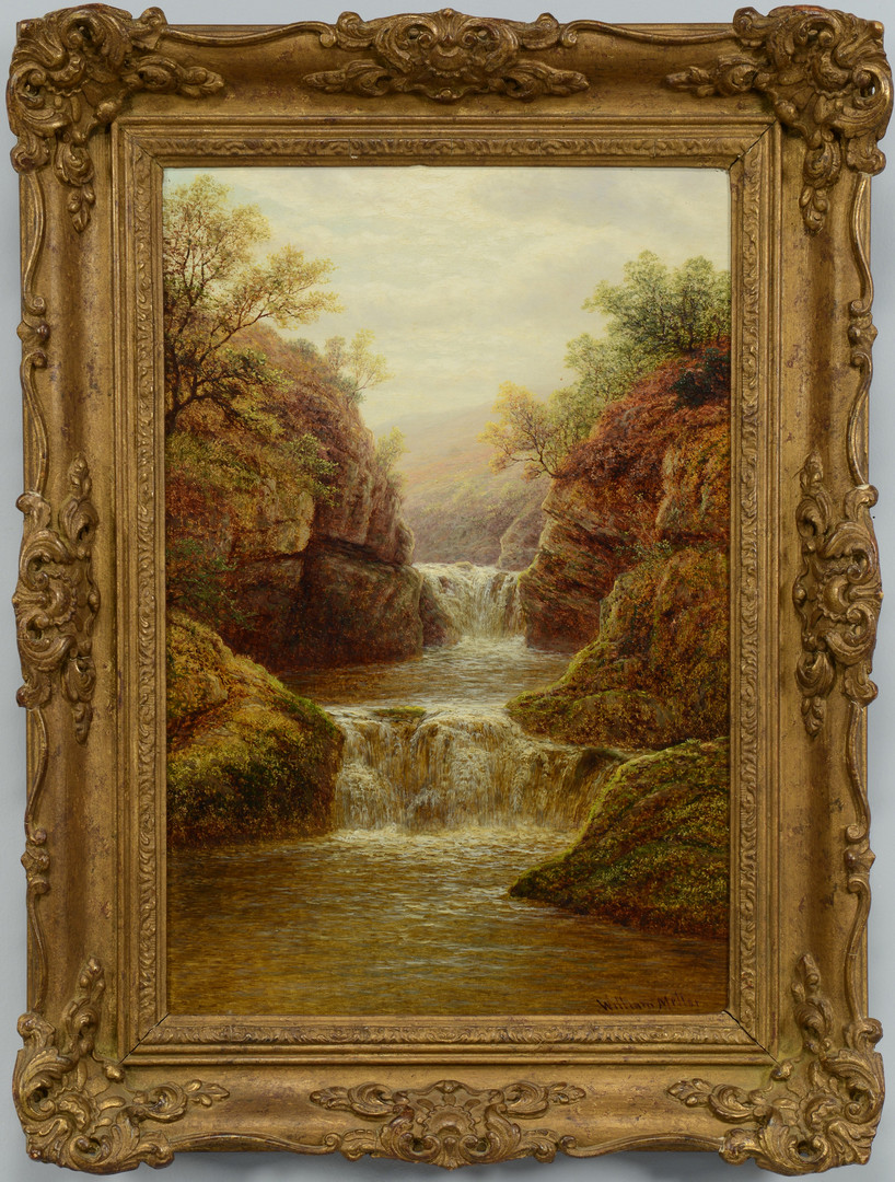 Lot 70: William Mellor landscape, Baxenghyll Falls