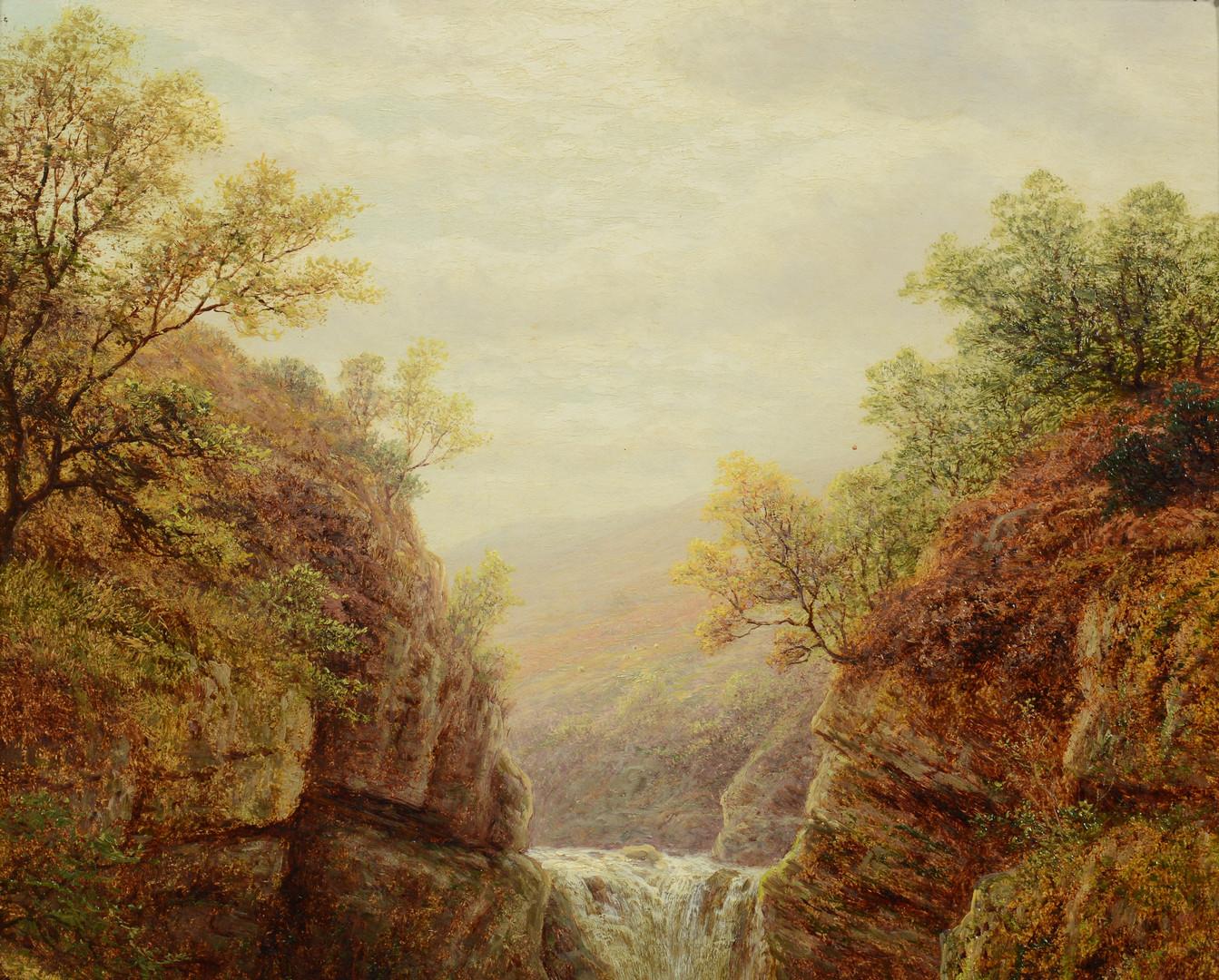 Lot 70: William Mellor landscape, Baxenghyll Falls