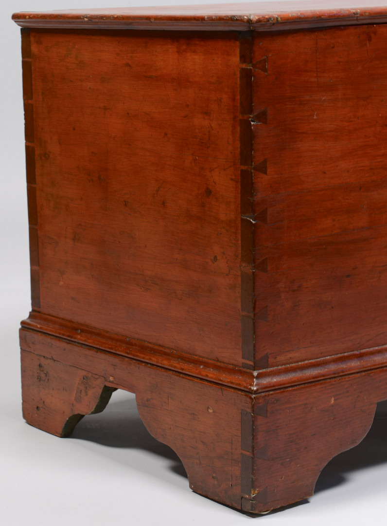 Lot 713: Red Painted Dovetailed Blanket Chest
