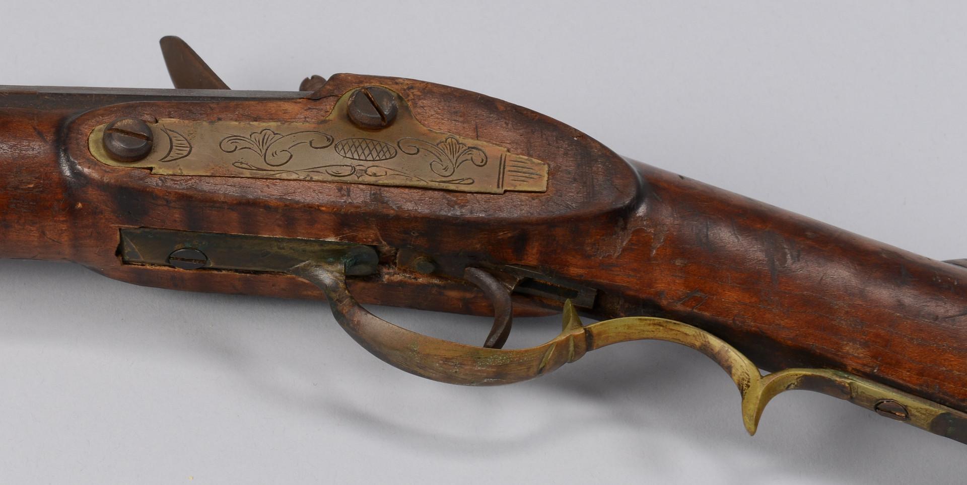 Lot 715: 3 Percussion & Flintlock Long Rifles Including Con