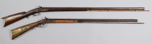 Lot 716: 2 Percussion Half Stock Rifles