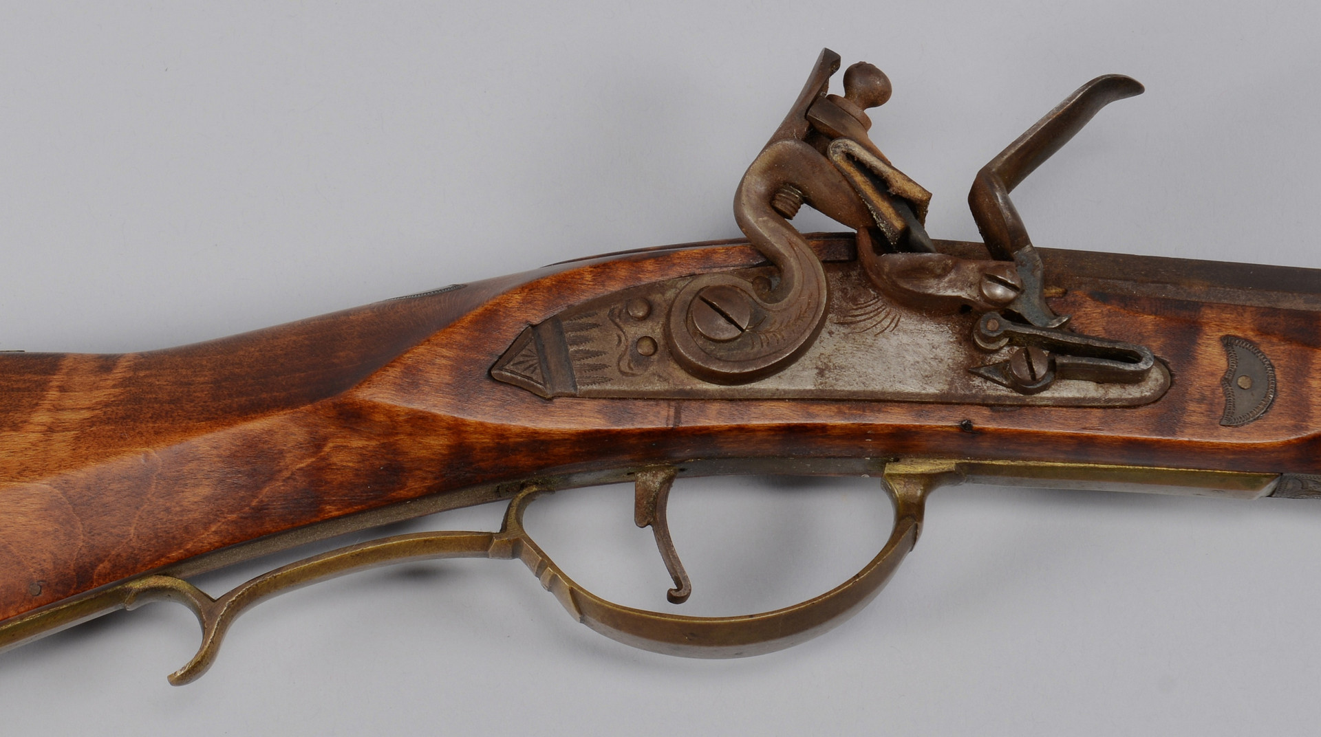Lot 717: Two (2) Flintlock Long Rifles, Contemporary