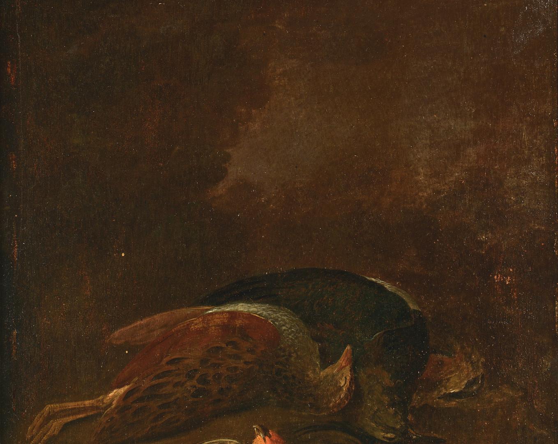 Lot 71: Attr. Geo. Morland, Pair Game Paintings